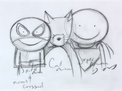 Dream Team! (Study III) by Doug Hyde -  sized 6x5 inches. Available from Whitewall Galleries